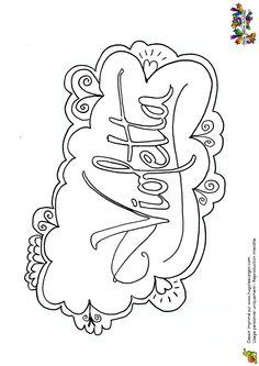 Coloriage du logo de la série Violetta.