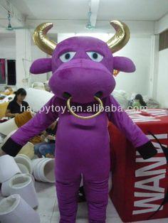 HI funny purple inflatable cow mascot costume