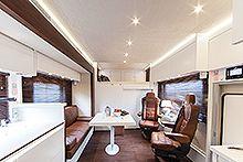 """VARIOmobil - Alkoven 1050 - Lifestyle - Interieur """"vogueART"""" Design - Bericht- Wohnmobile - Traummobil - die sportliche Luxusklasse"""