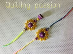 Quiller rakhi -lumba pair Quilling Earrings, Quilling Jewelry, Paper Quilling, Hobbies And Crafts, Arts And Crafts, Diy Crafts, Quilling Rakhi, Rakhi Making, Handmade Rakhi