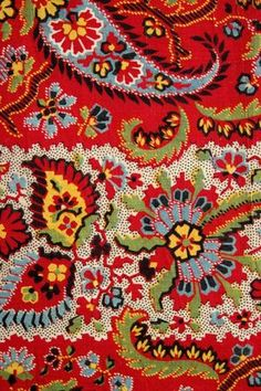 paisley in traditional colours. Motif Paisley, Motif Floral, Paisley Pattern, Pattern Art, Pattern Design, Retro Pattern, Paisley Design, Print Design, Motifs Textiles