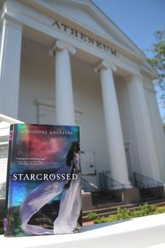 Starcrossed in front of the Atheneum in Nantucket.