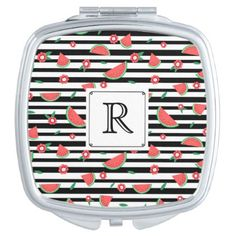#personalize - #Watermelons and stripes vanity mirror