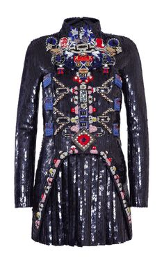 Directopios Embroidered Dress by Mary Katrantzou for Preorder on Moda Operandi