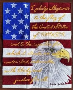 Probably one of the most visually stunning quilts I have ever made is this patriotic wall hanging by Anita Goodesign. It is made up of nine embroidered panels which were created by my daughter on h...