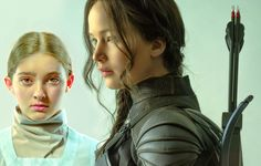 Official still image of Jennifer Lawrence as Katniss Everdeen and Willow Shields as Primrose Everdeen in #TheHungerGames #MockingjayPart2