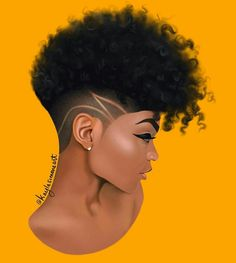 "I love this illustration by I just want to run my fingers through her curls! 😍⠀ ⠀ ""I drew this beauty ✨… Black Love Art, Black Girl Art, Black Girl Magic, Natural Hair Art, Natural Hair Styles, Cabello Afro Natural, Drawings Of Black Girls, Black Girl Cartoon, Black Art Pictures"
