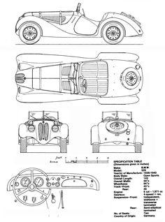 BMW 328 (1936 - 1940) | SMCars.Net - Car Blueprints Forum