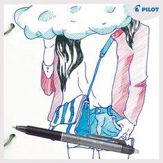 Máš často hlavu v oblakoch? Nerieš stratené vrchnáky, klikaj s #Frixion #Clicker :)