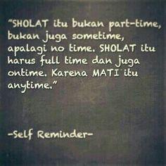 self reminder..