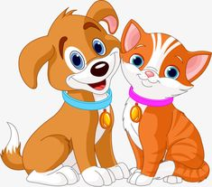 Illustration of Illustration of best friends ever - Cat and Dog vector art, clipart and stock vectors. Cartoon Cartoon, Kitten Cartoon, Cartoon Images, Dog Clip Art, Cat Clipart, Dog Vector, Vector Stock, Kittens And Puppies, Kittens Cutest