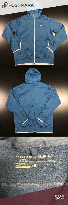 Nike Golf Sport Jacket Used blue golf jacket that's a little worn with little fuzzies on the front Nike Jackets & Coats