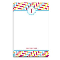 Bright Eliza Initial Notepads