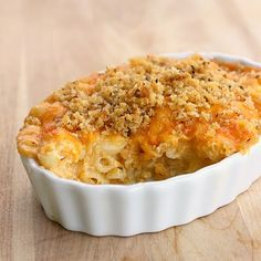 Baked Macaroni and Cheese  I loved it!  it was really creamy and the top was just crunchy enough.  It only has to bake for 30 minutes so it's great to throw in the oven and then concentrate on the rest of the meal.  I will definitely make this again.
