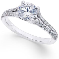Simple but beautiful! Pure Quality! X3 Certified Diamond Engagement Ring (1-1/3 ct. t.w.) in 18k White Gold #afflink (scheduled via http://www.tailwindapp.com?utm_source=pinterest&utm_medium=twpin)