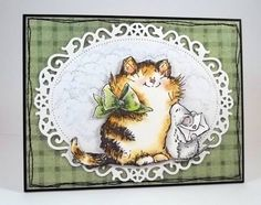 Penny Black cat card colored beautifully by jaydekay -