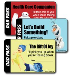 For Father's Day, show dad you care with these great Dad Passes, featuring characters from Frozen, Big Hero 6, Inside Out and more! Available for zero points: http://www.disneymovierewards.go.com/rewards/fathersday-dadpasses-6691?cmp=DMR|PIN|Rewards|DadPasses