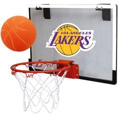Rawlings Los Angeles Lakers Game On Backboard Hoop Set, Team