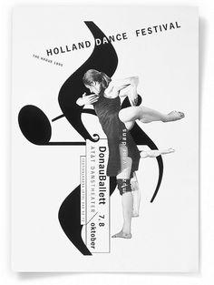 Studio Dumbar – Holland Dance Festival Visual Identity & Promotional Campaign, 1995