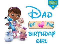 Doc McStuffins DAD of the Birthday Girl Printable Iron On Transfer or use as clipart by TheWallabyWay - DIY Doc McStuffin Shirt perfect for a Doc McStuffins Birthday Party!
