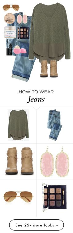 """Olive green and these mean jeans"" by texas-preppy on Polyvore featuring Wrap, Zara, Kendra Scott, Wallis, Ray-Ban, Rimmel, Sara Happ, NARS Cosmetics, Eos and Tory Burch"