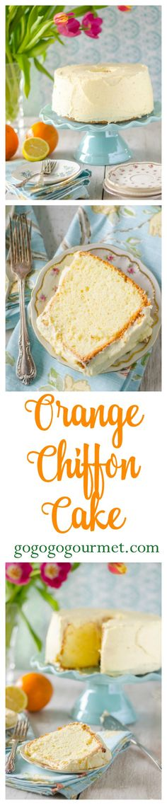 This cake is legendary in my family- light, spongy and citrusy, its perfect for spring days! Orange Chiffon Cake   Go Go Go Gourmet @gogogogourmet