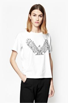Fleck Fatale Eagle T-Shirt - White