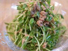 シャキ!ぷちっ!豆苗とツナの胡麻サラダの画像