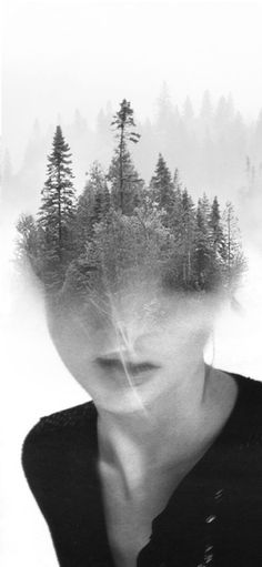 "WOODKATE by Antonio Mora ● Love how he mixes up portraits with other photos, making them dreamy and fantastical. On his website he describes himself as ""someone who makes cocktails, realizes from images found in blogs, magazines, and fusing them together""."