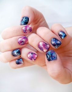 Get galactic with this super cool manicure by Pretty Squared. It may look complicated, but it's surprisingly easy to pull off, even for beginners. See the tutorial on Pretty Squared.