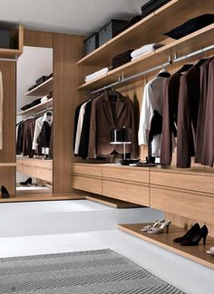 Comfortable and Suitable Wardrobe Design for Big & Small Bedroom Walk In Closet Design, Bedroom Closet Design, Master Bedroom Closet, Wardrobe Design, Closet Designs, Interior Design Living Room, Bedroom Wardrobe, Wardrobe Closet, Built In Wardrobe