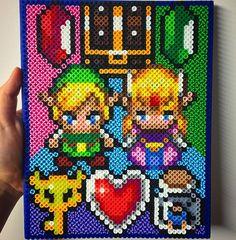 Legend of Zelda wall decor perler beads by this_demi