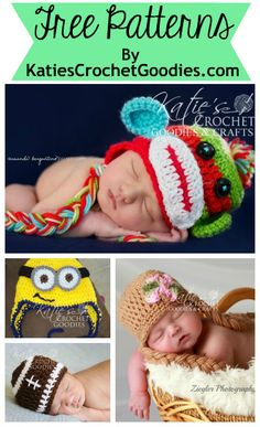 Free Patterns from Katie's Crochet Goodies - Many more to come! http://www.katiescrochetgoodies.com/2014/04/free-crochet-patterns-and-tutorals-by.html  #crochet #newbornphotography #freepatterns