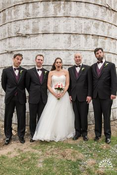 Amy being silly with Peter's groomsmen.  Photo courtesy of @ssuttonphoto.