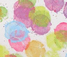 Tennis Ball Prints Lesson Plan: Printmaking Lessons for Kids: KinderArt ®- Would be great for a summer proj or art club