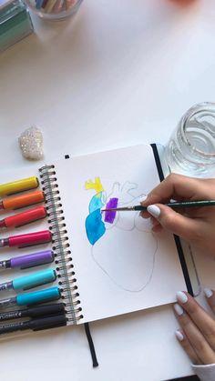 Art Drawings Sketches Simple, Pencil Art Drawings, Mandala Art Lesson, Doodle Art Designs, Doodle Art Drawing, Watercolor Art, Watercolor Mandala, Zen Art, Diy Canvas Art
