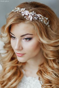 vintage wedding hairpiece / http://www.deerpearlflowers.com/wedding-bridal-hairstyles-for-long-hair/