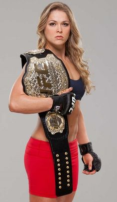"""Here's one chick with no shortage of accomplishments tucked under her weighty UFC championship belt. Not only is she an Olympic medalist in Judo, she also is a astonishing UFC fighter. Did we mention Ronda """"Rowdy"""". Ronda Rousey Wwe, Ronda Jean Rousey, Divas Wwe, Rowdy Ronda, Ufc Women, Ufc Fighters, Female Mma Fighters, Female Fighter, Wwe Womens"""