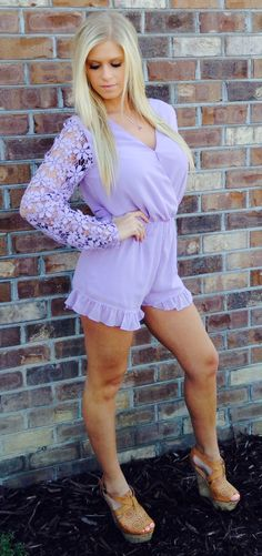 301aeba29a4 Lavender Lace Romper - Smooch Boutique