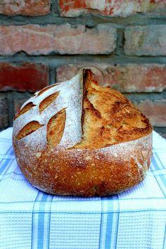 Vadkovászsuli: Burgonyás kovászos fehér kenyér Sourdough Bread, Baked Potato, Tortillas, Bakery, Muffin, Cooking Recipes, Sweets, Breakfast, Ethnic Recipes
