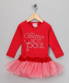 Take a look at this Red Velvet 'Better Not Pout' Tutu Tee - Infant, Toddler & Girls by T-Shirt Tutus on #zulily today!