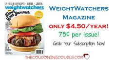 WEIGHTWATCHERS MAGAZINE! Only $4.50/year! That is the same price as ONE issue at the store! Grab a subscription now! Great gift idea too!  Click the link below to get all of the details ► http://www.thecouponingcouple.com/weight-watchers-magazine-only-4-99year-2-days-only/ #Coupons #Couponing #CouponCommunity  Visit us at http://www.thecouponingcouple.com for more great posts!