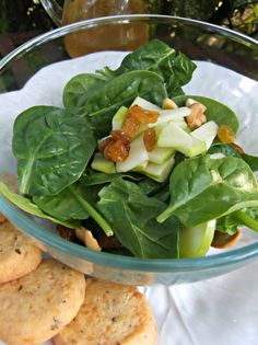 What's For Supper?: Baby Fresh Spinach and Apple Salad