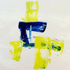 """""""Marine Blue/Lime Green Composition """" by Paddy Colahan. Paintings for Sale. Bluethumb - Online Art Gallery"""