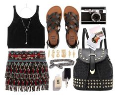 """Summer Festivals"" by monmondefou ❤ liked on Polyvore featuring Valentino, Billabong, River Island, Forever 21, Aéropostale, Casetify and Polaroid"