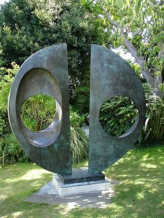 Barbara Hepworth's Sculpture Garden in Cornwall