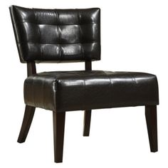 Elizabeth Armless Accent Chair - Brown, desk/extra seating chair
