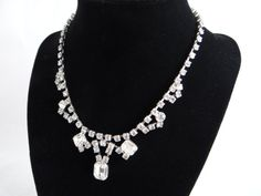 Vintage Rhinestone Necklace  Beautiful Bling by SecondWindShop, $15.00