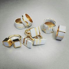 Rings by jewelry designer Noy Alon
