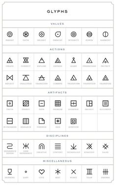 glyphs tattoo designs: